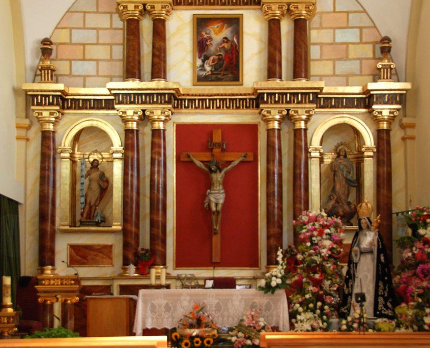 Retablo Mayor Iglesia de San Juan, Pozohondo
