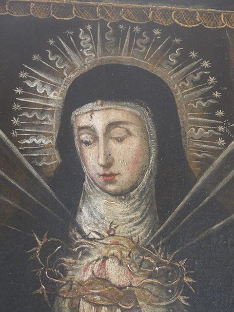 cuadro virgen de la Soledad. Convento de las Clarisas Hellín Albacete proceso Pablo Nieto (3)