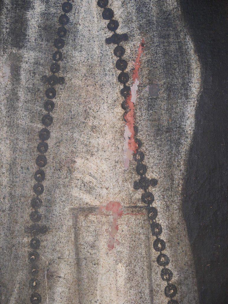 cuadro virgen de la Soledad. Convento de las Clarisas Hellín Albacete proceso Pablo Nieto (5)