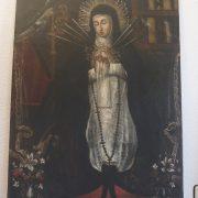 cuadro virgen de la Soledad. Convento de las Clarisas Hellín Albacete proceso Pablo Nieto (6)