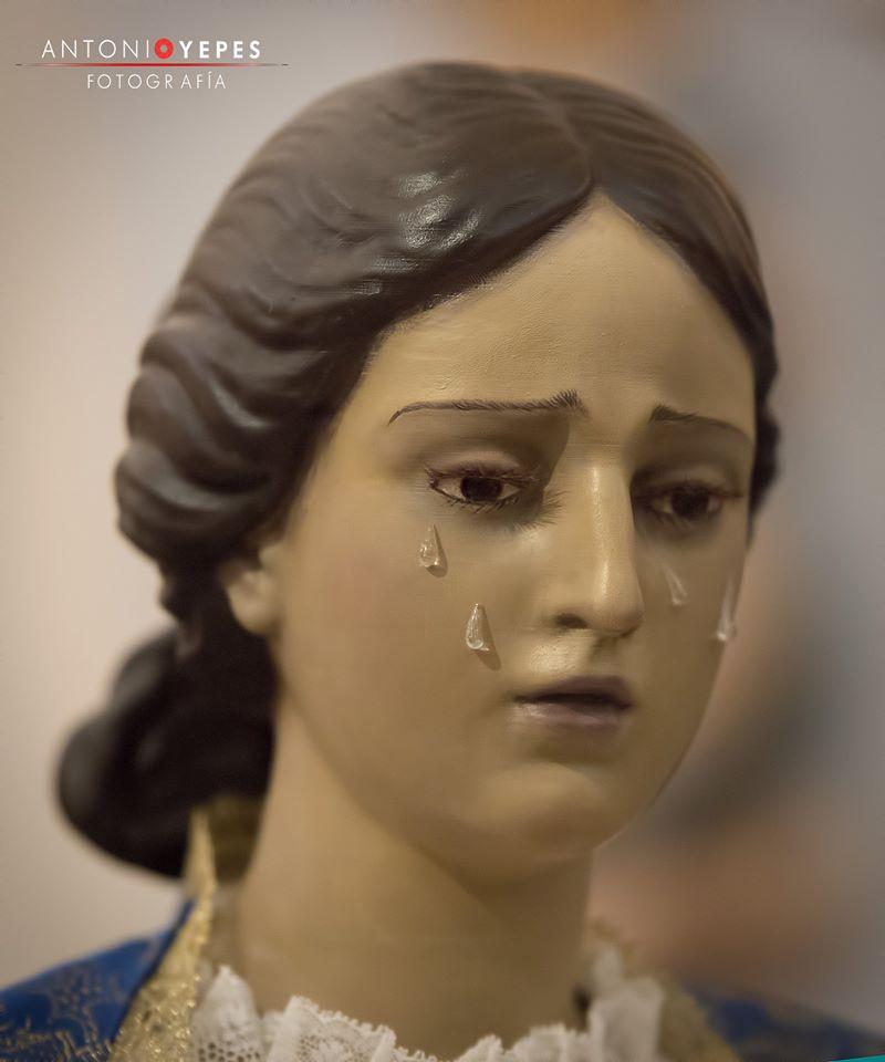 Réplica infantil Santa Mujer Verónica. Hellín. Febrero 2020. Pablo Nieto Vidal. El Parteluz. S.L. FOTO ANTONIO YEPES