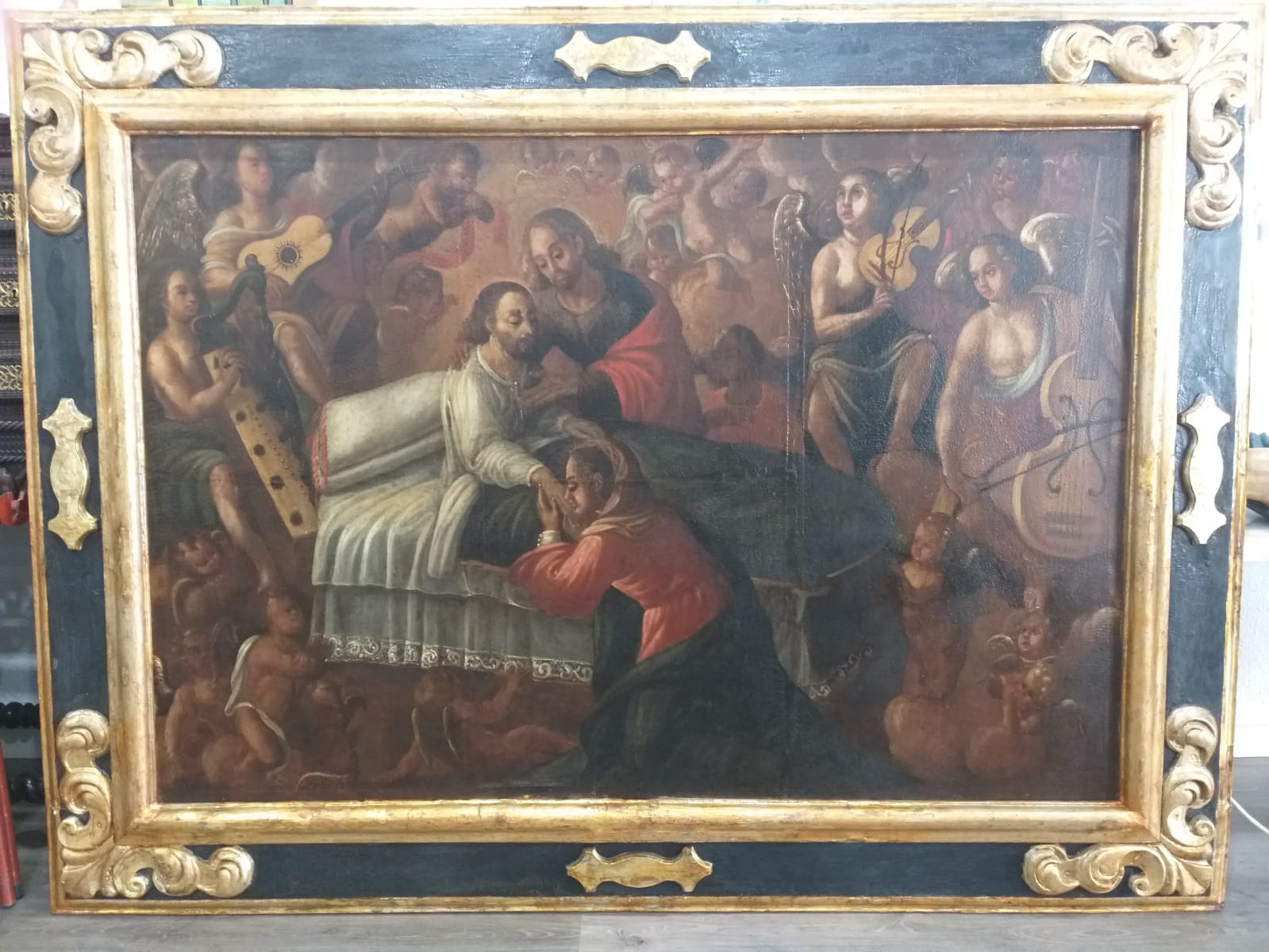 Muerte de San José. Sacristía de la Iglesia de Santa Catalina. El Bonillo (Albacete) Foto: El Parteluz S.L
